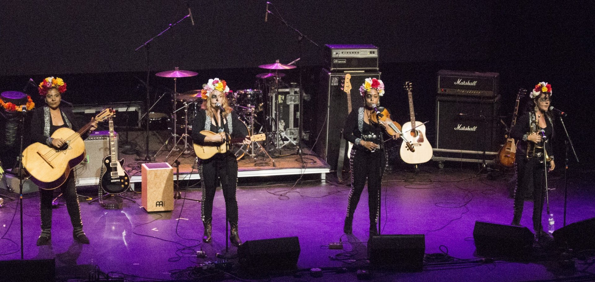 Mariachi de Toloache performing live at HSU's Van Duzer Theater on Monday, Oct. 30, 2017, as part of their Day Of The Dead Tour. Photo credit: Robert Brown