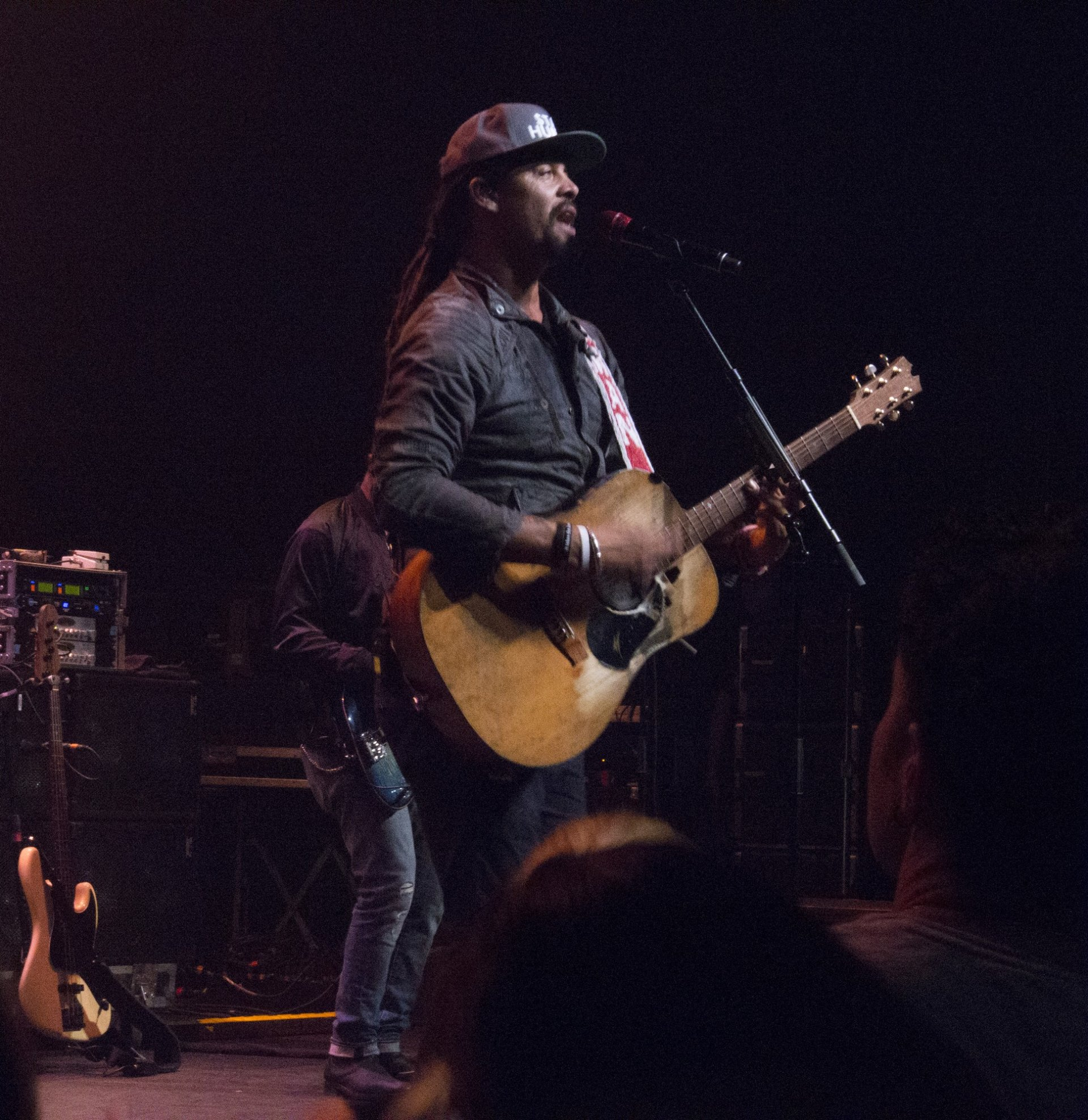 Michael Franti and Spearhead performing in the Vanduzer Theatre at Humbodt State University Sunday September 17, 2017 Photo credit: Robert Brown