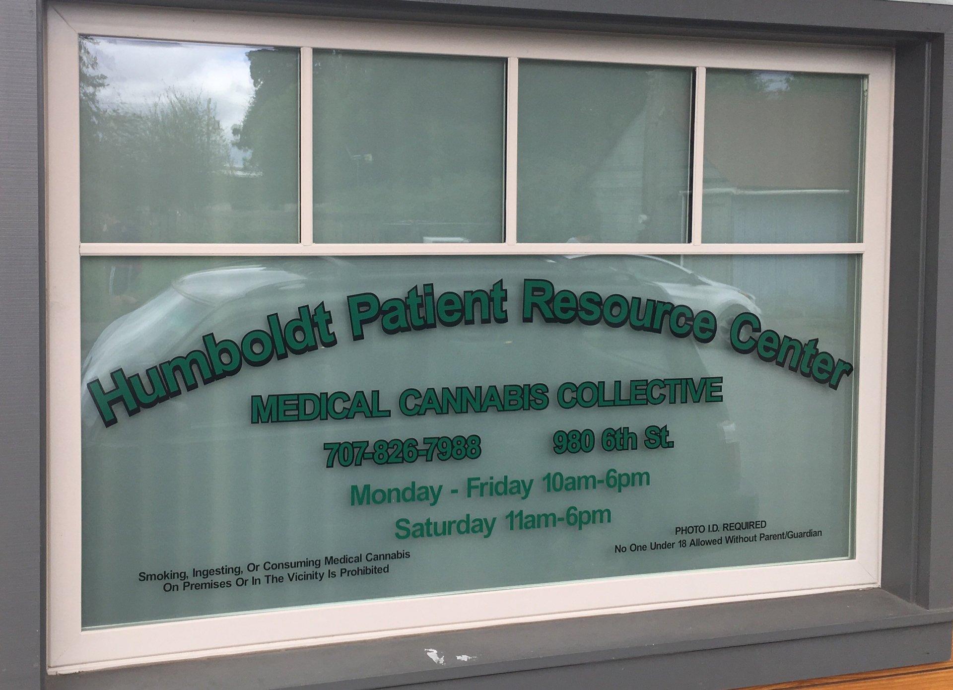 Humboldt Patient Resource Center front sign.| Juan Herrera