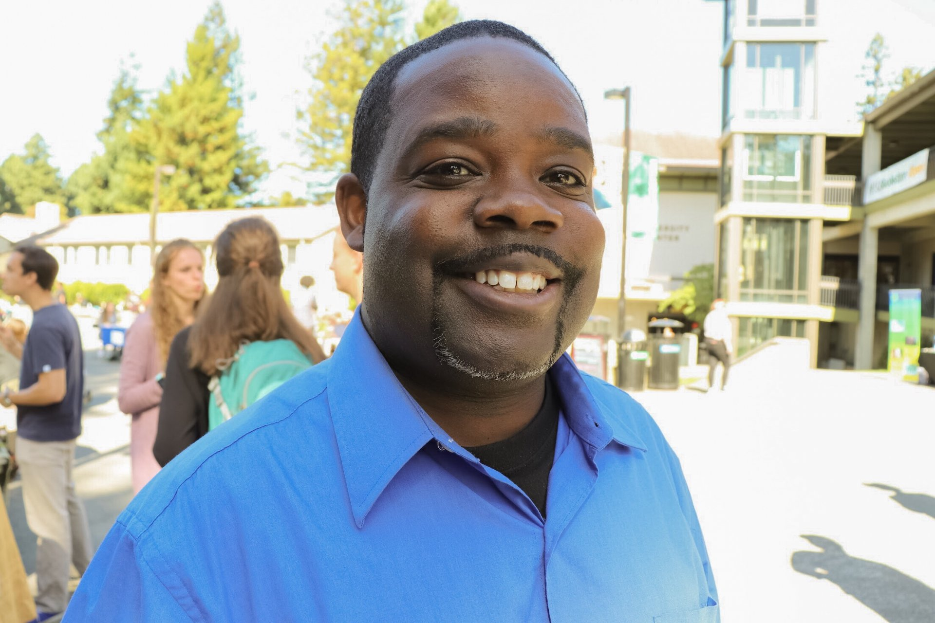 Cedric Aaron poses for a photo at Humboldt State's Club's Fair Oct. 4 In the UC quad. | Photo by Dajonea Robinson