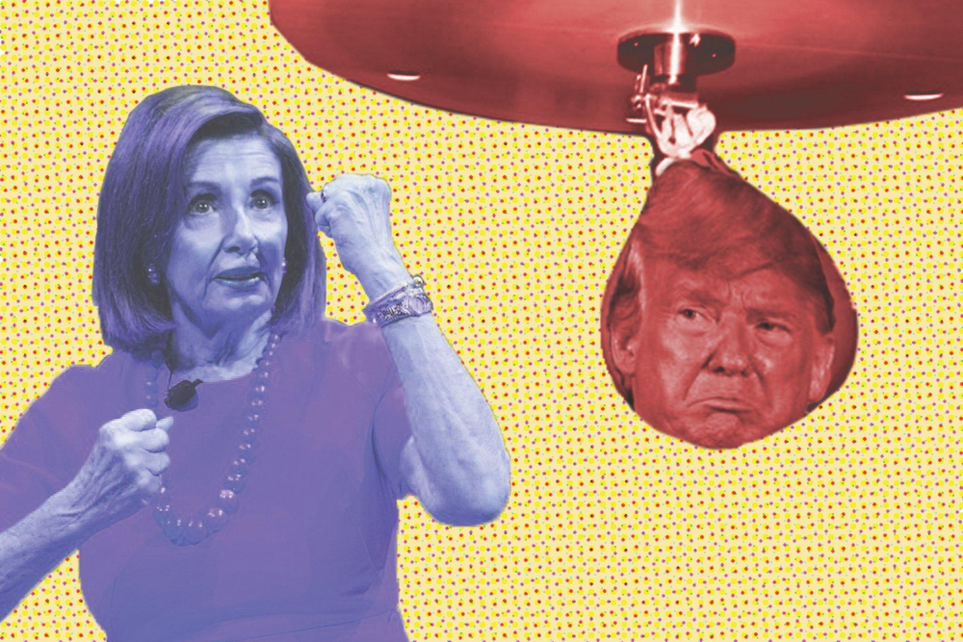 Nancy fightin' Donald. | Photo Illustration by Megan Bender