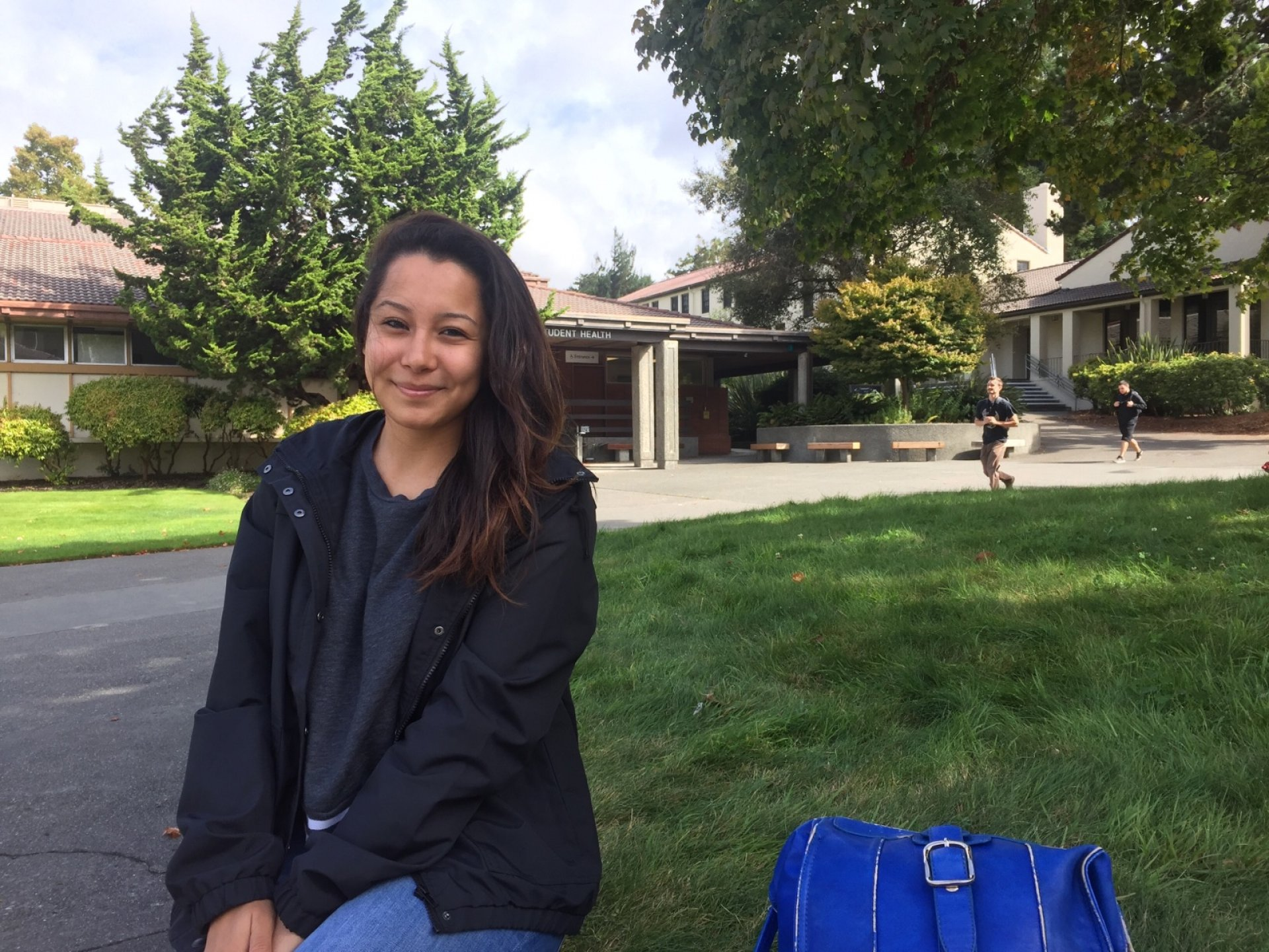 Kianna Rodriguez, a communications major at HSU, believes unity in the aftermath of a disaster is essential. Photo credit: Kyra Skylark