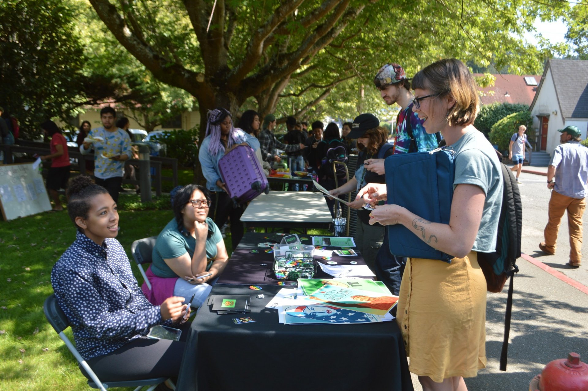 The MCC open house enabled students to learn more about university programs and projects, such as Check It. Photo credit: Lora Neshovska