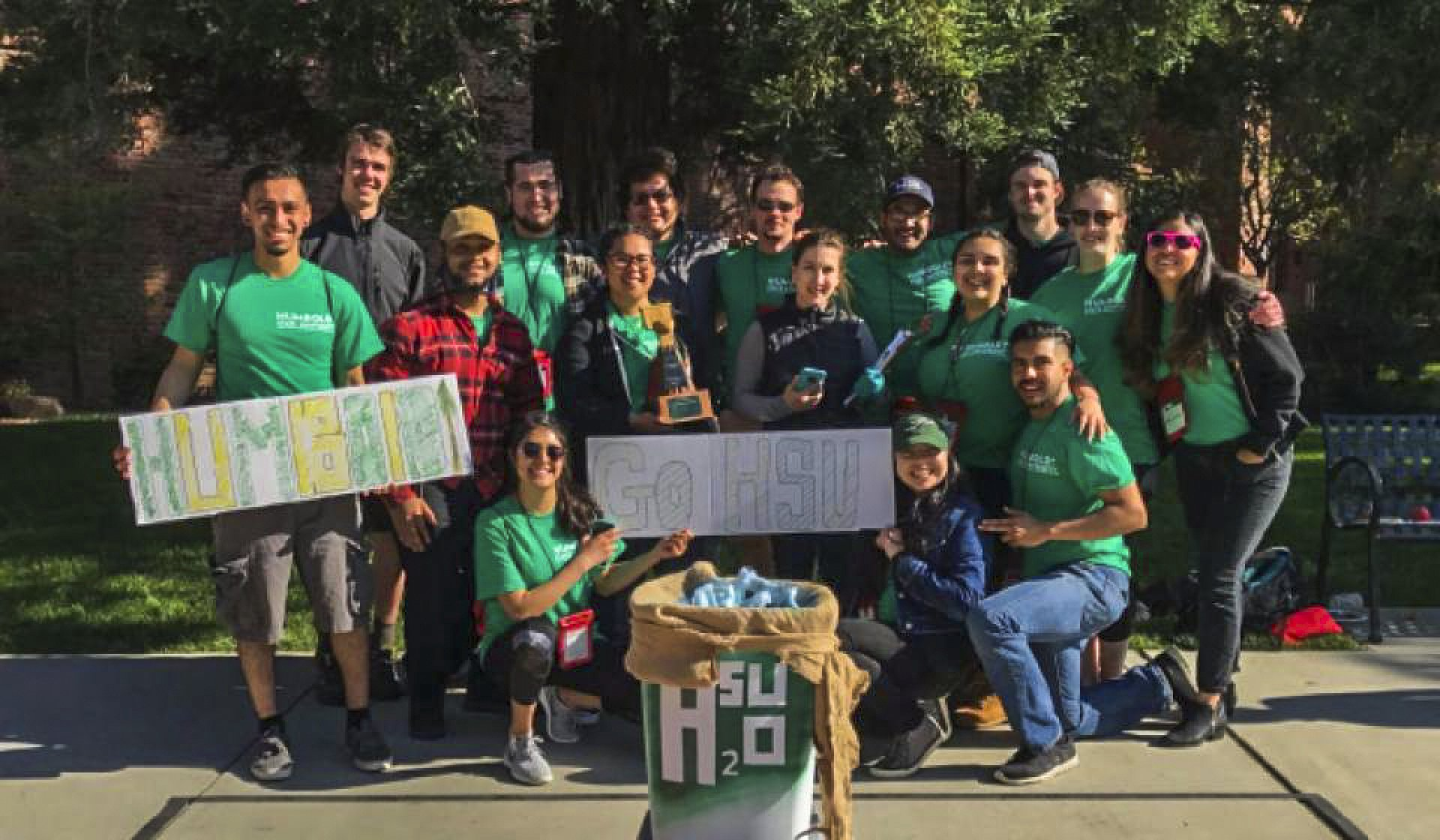 A team of Environmental Engineering students created a water filtration system that would be able to make a given sample of water drinkable again. This team of engineers received first place in multiple categories. PC: Environmental Resources Engineering Department