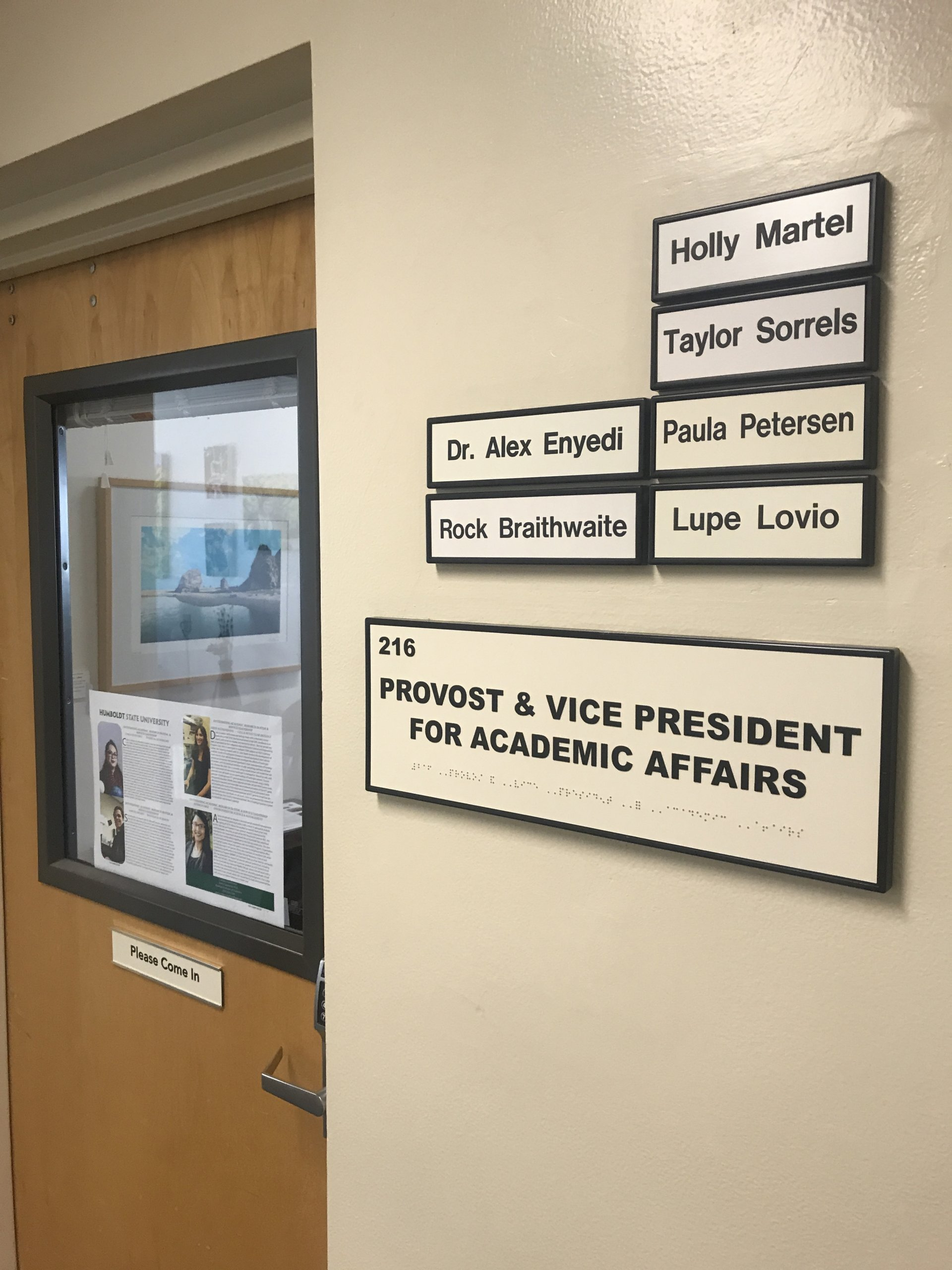 The provost of Humboldt State University makes the decision of which classes to cut for the following semester based on enrollment. Photo by  T.William Wallin
