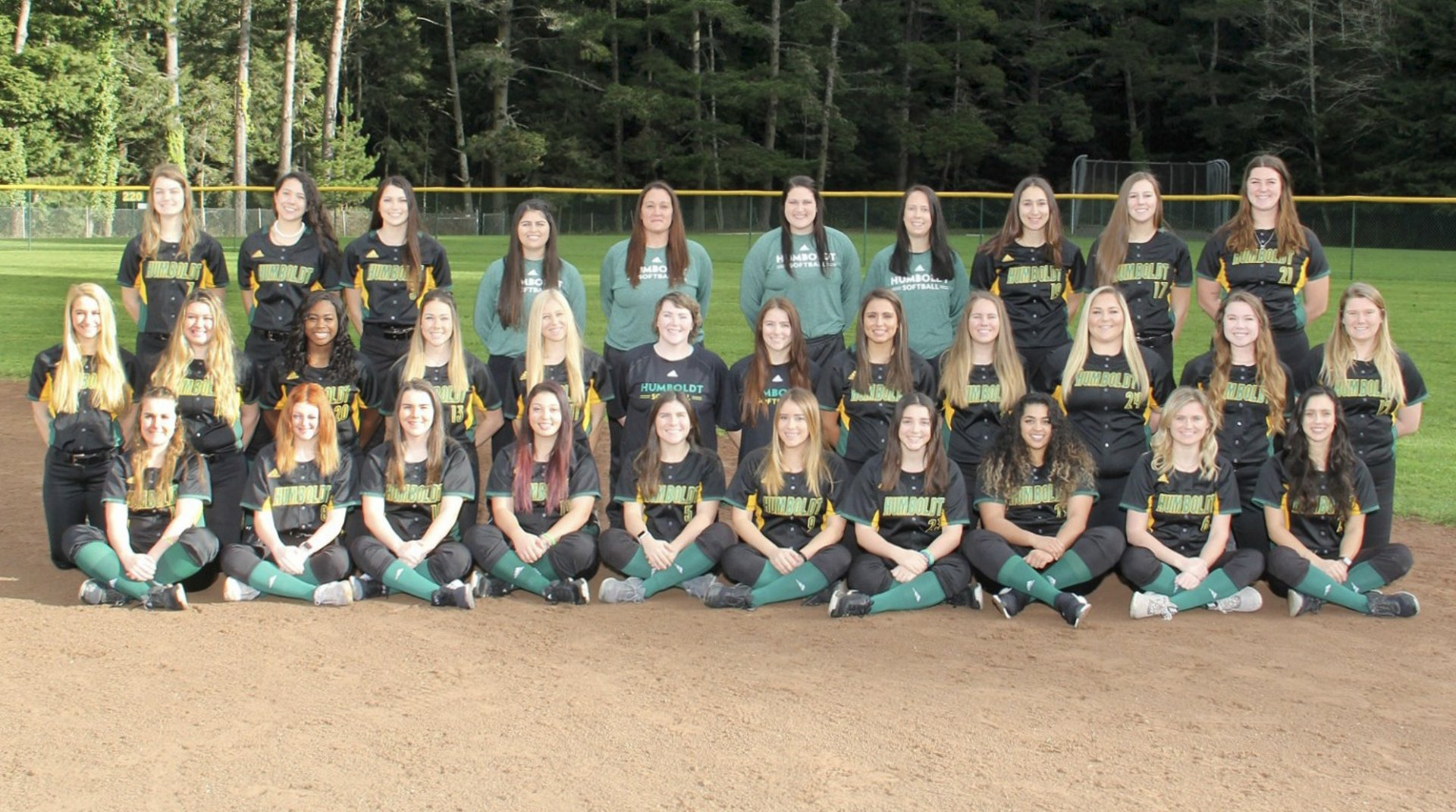 2019 Humboldt State softball team  Photo courtesy by Humboldt State Athletics.
