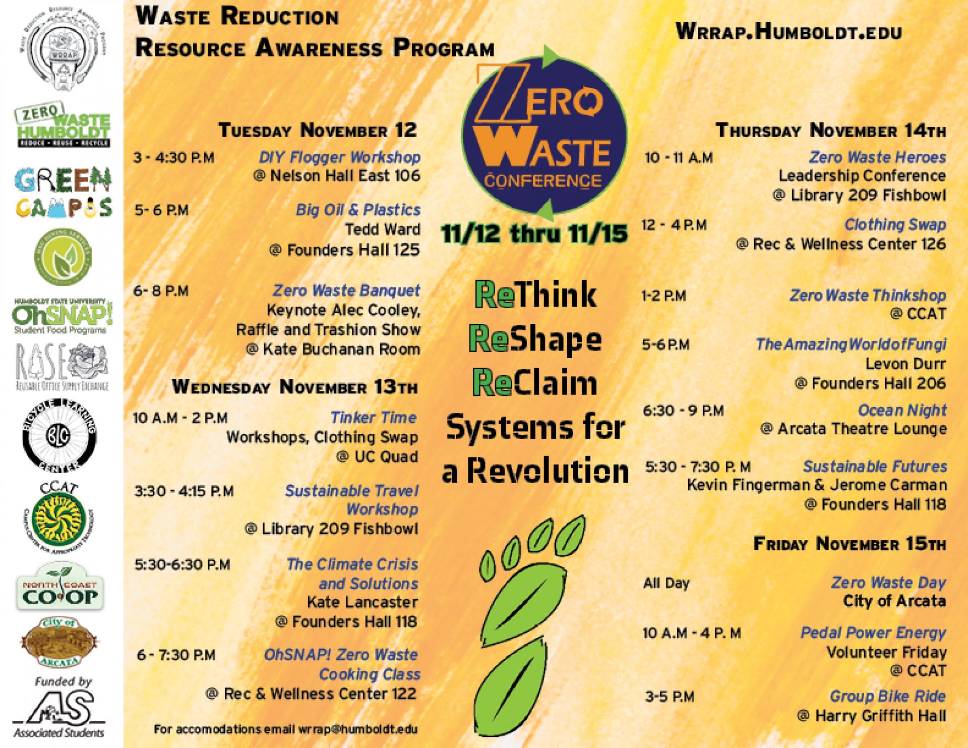 WRAPP's Zero Waste Conference 2019 flyer.
